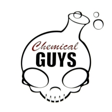 Chemical Guys punamusta logotarra, iso