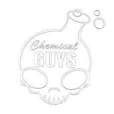 Chemical Guys valkoinen logotarra, iso