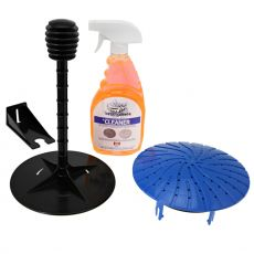 Detail Guardz Dirt Lock Pad Washer, sininen + Polishing Pad Spray Cleaner