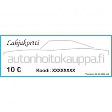 Autonhoitokauppa-lahjakortti, 10 euroa