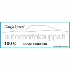 Autonhoitokauppa-lahjakortti, 100 euroa
