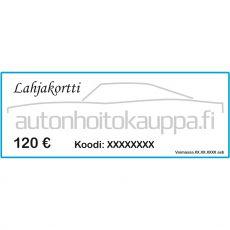 Lahjakortti, arvo 120 euroa