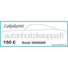 Lahjakortti, arvo 150 euroa