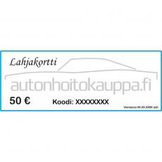 Autonhoitokauppa-lahjakortti, 50 euroa
