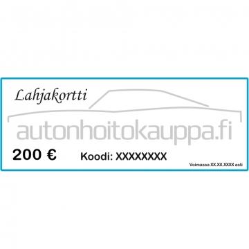 Lahjakortti, arvo 200 euroa