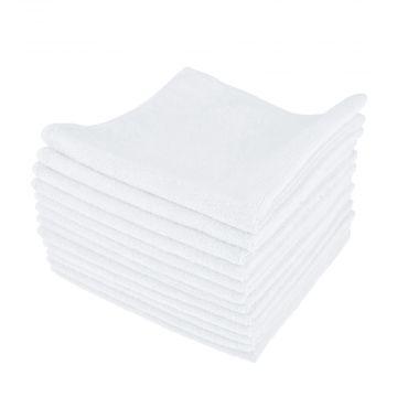 PT valkoinen mikrokuituliina, 12 kpl