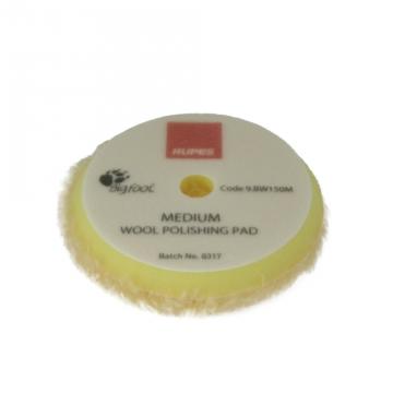 Rupes Yellow Medium Wool Pad, 150 mm tausta
