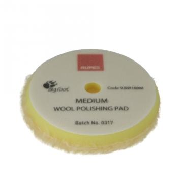 Rupes Yellow Medium Wool Pad, 180 mm tausta